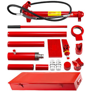 Vevor 20 Ton Porta Power Hydraulic Jack Auto Body Frame Repair Kit Lift Ram