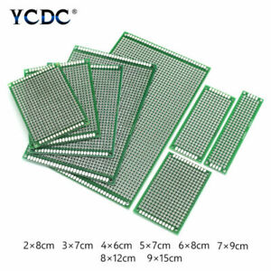 Double single sided Pcb Circuit Board Prototype Kit 8 Sizes For Diy Soldering