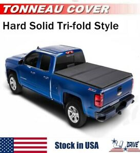Hard Solid Tri fold For 2007 2013 Chevy Silverado 6 5ft Bed Cover Tonneau Cover