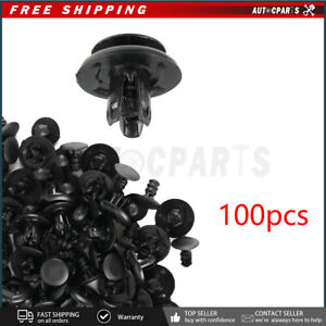 100pcs Retainer Fastener Fender Splash Shield Clips For Honda Element Fit Pilot