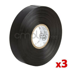 Insulating Tape Black Electrical Tape 65ft Roll Lot Of 3 New