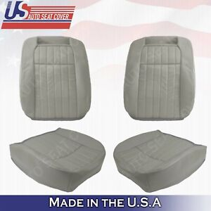 Driver Passenger Leather Perforated Seat Cover For 1994 1996 Chevy Impala Ss