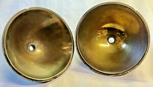 2 Original 1930s Ford Headlight 1 Bulb 8 Brass Reflectors Headlamp Two Lite Set