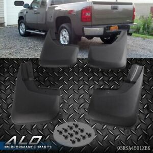 For 14 18 Silverado Mud Flaps Mud Guards Splash Guards Molded 4pcs Front Rear