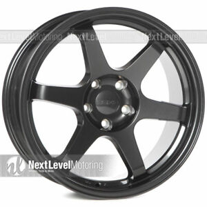 9six9 Six 1 18x8 5 5x120 35 Carbon Gray Te37 Style Wheels Concave Set Of 4