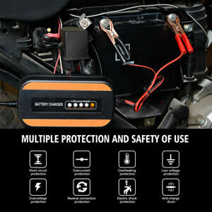 Portable Car Battery Best Charger Maintainer Auto Us Plug For Motorcycle Weeder