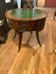 Weiman Table With Green Leather Top
