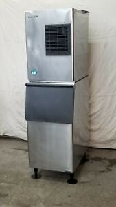 2ea Hoshizaki Km320mah 300 Lb Ice Machine Head With A 300 Lb Bin