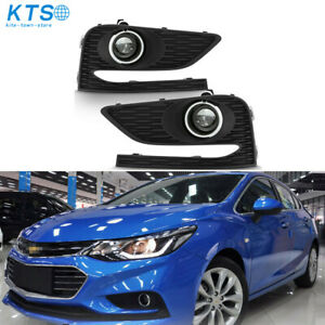 Left right Bumper Fog Lights Driving Lamps W Switch For 2016 2018 Chevy Cruze