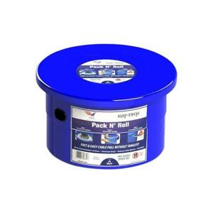 Pack n roll Cable Wire Dispenser Portable Container Plastic Blue
