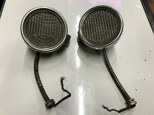 Pair Vintage Early Cowl Lamp Lights Old 1920 s 1930 s Chrysler Auto Dodge Car