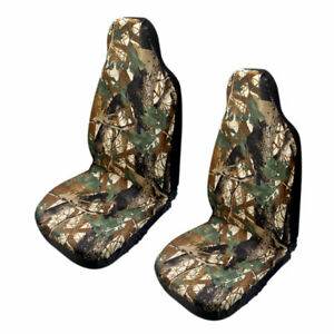2pcs Universal Car Auto Camouflage Front Seat Cover Bucket Seat Protector Pads