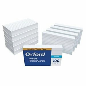 Oxford Ruled Index Cards 3 X 5 White 1 000 Cards 10 Packs Of 100 31