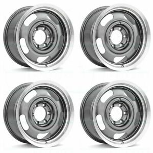 18x8 5 18x9 5 Vision 55 Rally 5x4 75 5x5 6 0 Gunmetal Wheels Rims Set 4