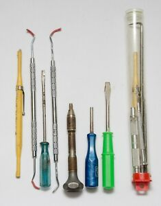 Vintage Dentist Lot 13 Dental Instruments Tools Mix Brand Mix Country