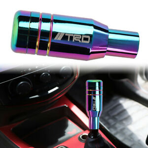 Trd Aluminum Neo Chrome Universal Automatic Car Gear Shift Knob Lever Shifter