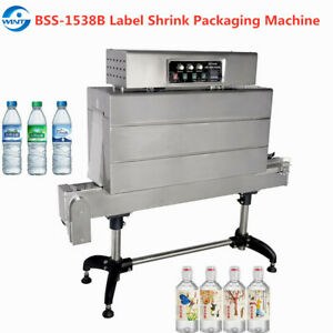 Bss 1538b Seimi automatic Label Thermal Shrink Packaging Tunnel For Drink Bottle