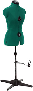 Adjustable Height Sewing Mannequin Dress Female Form Torso Measure Stand Small
