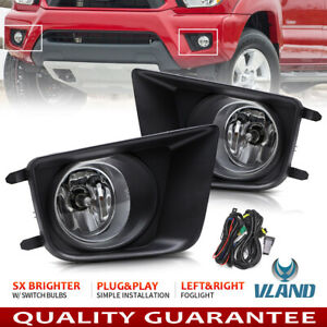 For 2012 2015 Toyota Tacoma Front Bumper Driving Lamp Fog Lights W Switch Bulbs