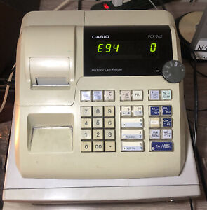 Casio Pcr 262 Electronic Business Cash Register Without Key For Parts E94