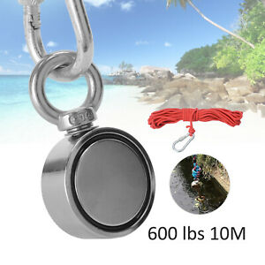600lb Fishing Magnet Kit Strong Neodymium Pull Force Treasure Hunt With 10m Rope