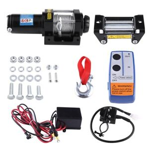 4000lbs 12v Electric Recovery Winch Atv Trailer Truck Towing Suv Car W remote