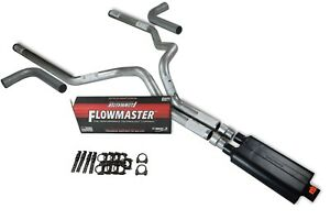94 03 Dodge Ram 1500 3 Dual Exhaust Kit Flowmaster 50 Series Side Exit