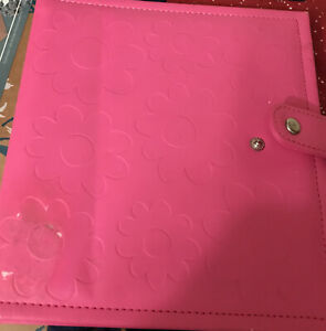 Pink Personal Size Leather Organizer Agenda Planner Ring Bi