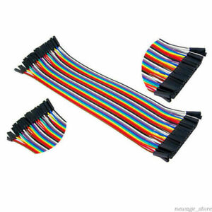 40pcs Breadboard Jumper Wires Dupont Cable Assorted Multicolored Ribbon Cables