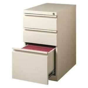 Hirsh 18574 15 W 3 Drawer File Cabinet Putty Letter