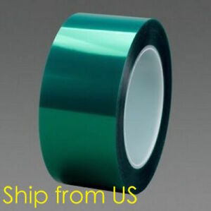 2 X 72 Yards High Temp Green Polyester Masking Heat Tape Powder Coating Paint