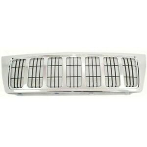New Grille Front For Jeep Grand Cherokee 2004 Ch1200298 Xb92tstac A1528g 4 door