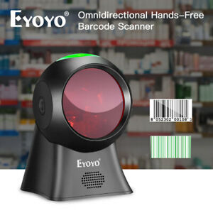 Eyoyo Usb Wired Omnidirectional Laser Barcode Scanner Reader Automatic Wake Up