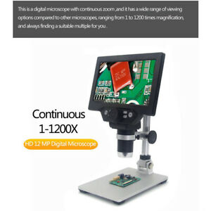 12mp 7inch Lcd Display Magnifier Digital Electronic Microscope Monitor Soldering