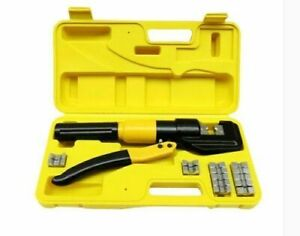 Quick Hydraulic Pressure Pliers Wire Cable Lug Terminal Crimper Crimping Tool