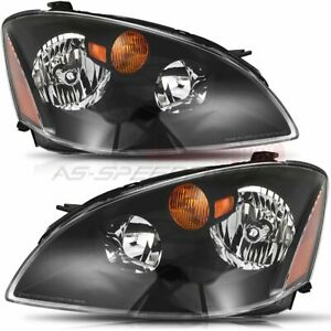 Headlight Fits Nissan Altima 2002 2004 Front Replacement Light Pair Clear