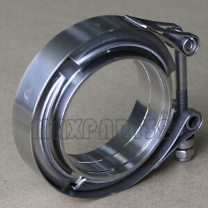 2 5inch Stainless Steel V band Clamp Ss 304 M f Flange Vband Exhaust Downpipe