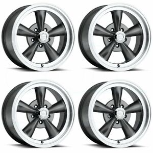 15x8 Vision 141h Legend 5 5x5 5 5x139 7 0 Gunmetal Wheels Rims Set 4