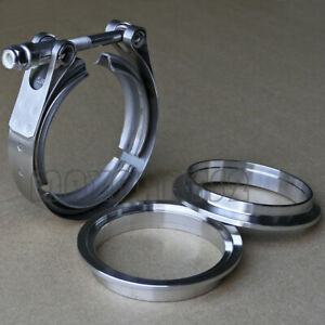 3 5inch Stainless Steel V band Clamp Ss 304 M f Flange Vband Exhaust Downpipe