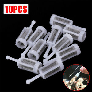 10x Disposable Gravity Feed Filter Paint Spray Gun Mesh Strainers Tool Accessory