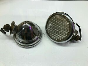 Pair Vintage Cowl Lamp Lights 1930 s Chevrolet Chevy Car Truck Stimsonite Old
