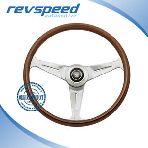 Nardi Italy Steering Wheel Classic Classico Wood Polished Spokes 390mm