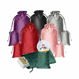12 Pcs Tarot Bags And Pouches Set Made Of Velvet 2 Size Tarot Card Bags Of 6