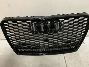 For Audi A7 S7 Rs7 Style 2011 2015 Front Honeycomb Mesh Grill Grille W Quattro