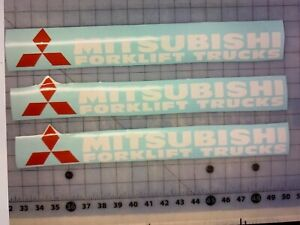 3 mitsubishi Forklift Truck Decal Sticker 17 Inches White Or Black