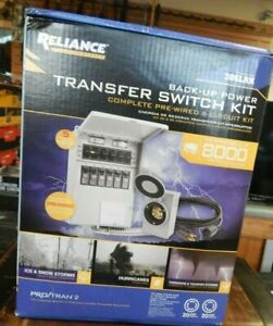 Reliance Generator Back up Power Transfer Switch Kit To 8 000 Watts 306lrk New