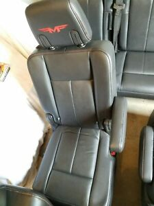 2008 Ford Expedition Funk Master Flex Leather Seats Black Fmf Red Second Row Set