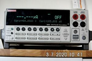 Keithley 2430 1kw Pulse Mode Sourcemeter To 100v 10a Rev C33 Nist 4 2019