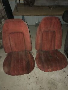 1973 1978 Trans Am Camaro Grand Prix Lemans Firebird Red Deluxe Bucket Seat Core