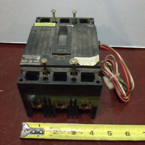 General Electric 150 Amp 3pole Circuit Breaker Cat Ted 136y150 2139